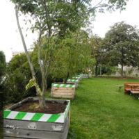 Jardin sur toiture   Parking et engazonnement   Collaboration associative   Barrières   Plantations   Partenaire décoration des Automnales