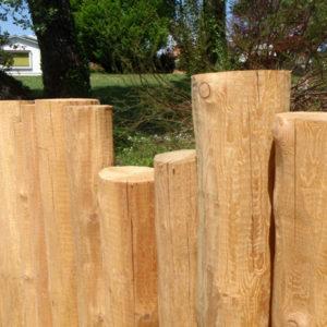 Barrière bois brut